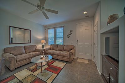 Gather with 5 friends in the spacious living room.
