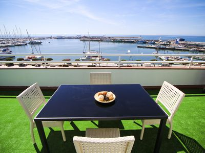 Photo for PORTMARINA Penthouse with terrace and views of the port