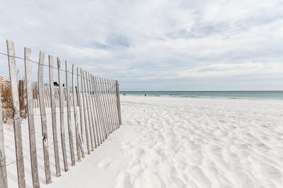 """The beautiful white """"sugar sand"""" beaches just steps away from the Sea Shell"""