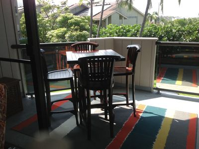 Open air dining on your Lanai.