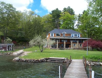 Photo for A LAKE HOUSE on LAKE GEORGE, a Private Beach, big Level Lawn & Waterfront
