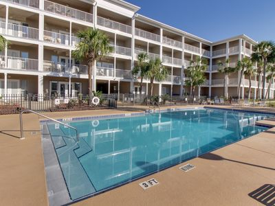 Photo for Beach condo with shared pool access, patio, free WiFi, full kitchen, and more