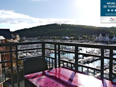 Photo for Duplex, Beautiful view of the Cabourg marina, two heated pools (in / out)