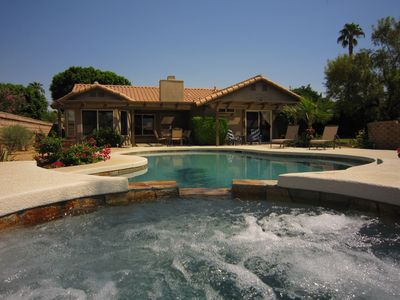 Photo for Desert Retreat with PRIVATE SALT-WATER POOL & SPA on large mountain view lot