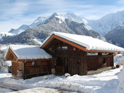Photo for Chalet view of Mont-Blanc, quiet, 4 stars.