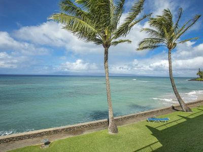 Photo for Incredible ocean views, 2BR luxury condo, just steps from the beach with A/C