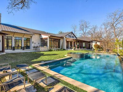 Photo for ARRIVE SAPPHIRE ON LAKE AUSTIN | Up to 12Bds | Echelon of Luxury | PoolSpa!