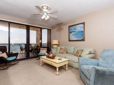 Photo for Upscale 2 bedroom condo, #405 at Navarre Towers..full beach view