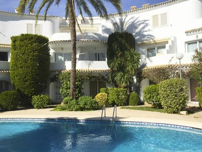 Photo for Wonderful and comfortable apartment in Denia, on the Costa Blanca, Spain  with communal pool for 4 persons