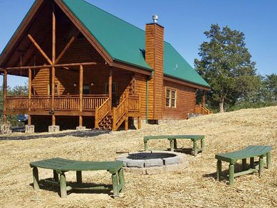 Photo for New Cabin With Theater Room, Wet Bar, Pool Table, Arcade Game, Swing, & Fire Pit