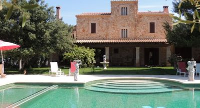 Photo for Es Pinar Gran - Exclusive New Country Finca with Large Solar Heated Saltwater Pool, close to the Vall d´Or Golf ! - Free WiFi