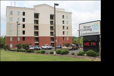 River Crossing Resort. Located just 1 block off the Parkway away from traffic.