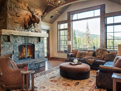 Photo for Luxurious Big Sky mountain home with ski access, breathtaking mountain views and a private hot tub
