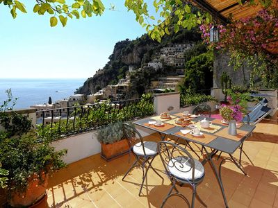 Photo for La Fenice is a beautiful apartment in Positano, with private terrace, air conditioning, 2 bedrooms 2