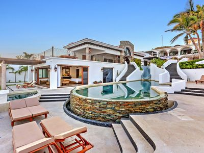 Photo for Cabo Beachfront Villa: Gourmet Chef; Butler; Spa; Media Gym; Transfers; Sleep 15