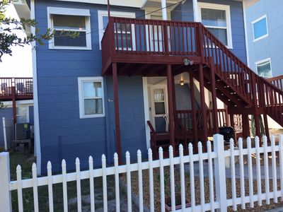 Ideal location with beach 10 steps away and view to die for - great family spot