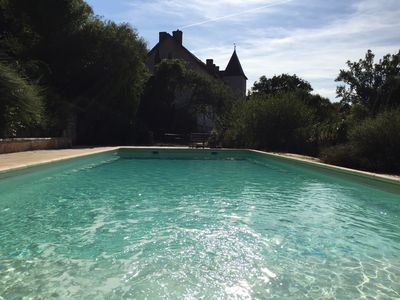 Photo for Secluded Manor house with pool surrounded by spectacular countryside views