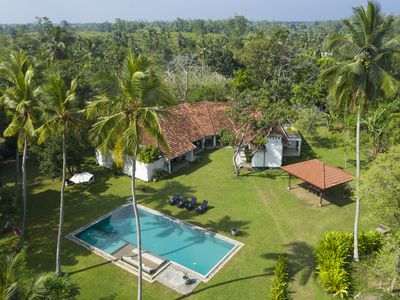 Photo for Villa Ronnaduwa - Colonial Villa with massive garden (30,000ft2), pool and staff