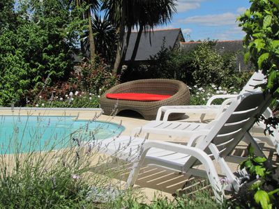 Photo for High Quality Traditional Breton Gite in Gomene - Swimming Pool , Wi-Fi , Gardens
