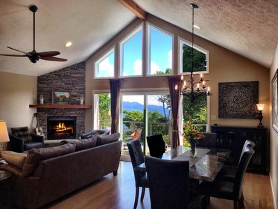 Large Great Room with Fireplace, and Expansive Views from the window