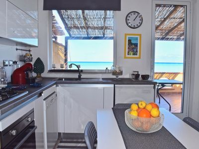 Photo for Sea View apartment with pool
