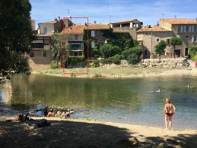 Photo for House in Bize Minervois with direct access to freshwater river beach