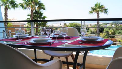 Photo for Two-Bedroom Apartment with Sea View Near Golf for 4 People