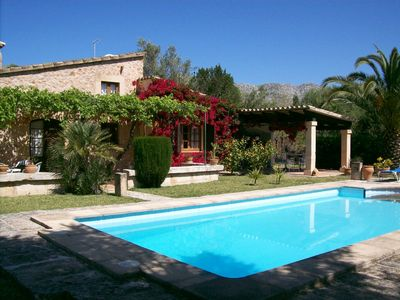 Photo for Beautiful small villa with swimming pool and gardens, between Pollensa & Puerto