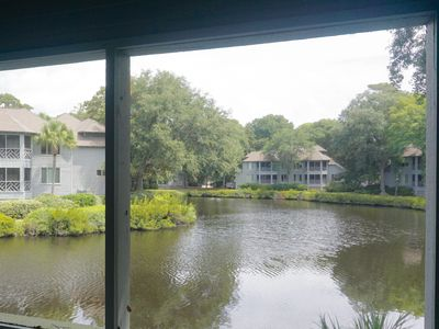 Photo for Relaxing Turtle Cove Villa with screened porch and lagoon view!