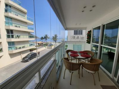 """Photo for Apartment overlooking the sea, """"walk in the sand"""", in front of Praia da Macumba"""