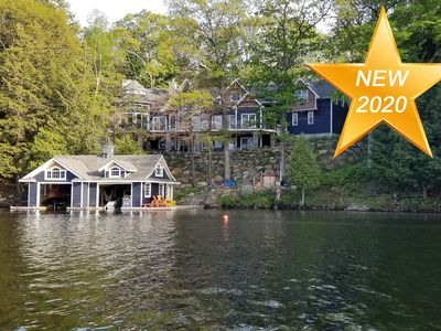 Photo for Gorgeous 8 Bed, 6 Bath Family Cottage on Lake Rosseau! Muskoka Room! Pool Table!