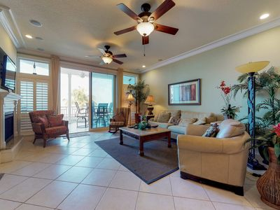 Photo for Oceanview getaway with shared pool & private patio - steps from the beach