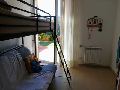Photo for Ground floor with two terrace, Pool + Garden / 300 m. beach, 1 km golf.