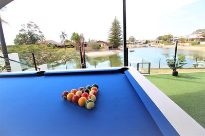 Outdoor Pool Table with a view!