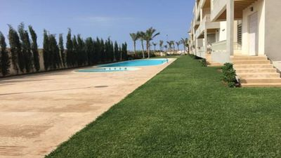 Photo for Perfect family apartment with piscines at beachvillage Dar Bouazza