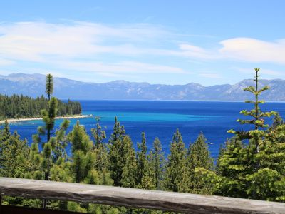 Photo for *Charming Lake Tahoe Home w/ Spectacular Panoramic Views Overlooking Meeks Bay