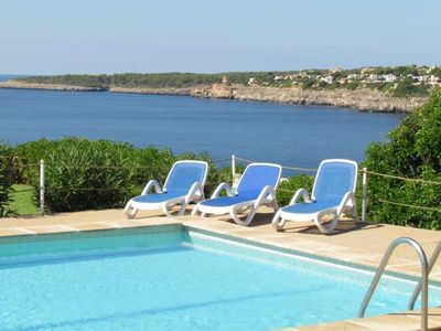 Photo for VILLA HELIOS- Villa on the seafront and cliff. Cala Pi. Private pool,AIR CONDITIONING - Free Wifi | Offer | 10% | 10/07 - 31/12