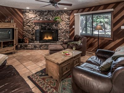 Photo for Luxury Cabin near Downtown w/ WiFi, Fireplace, Grill & Outdoor Hot Tub