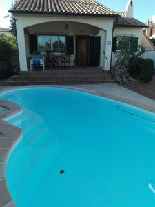 Photo for Charming holiday home with great pool area near the beach