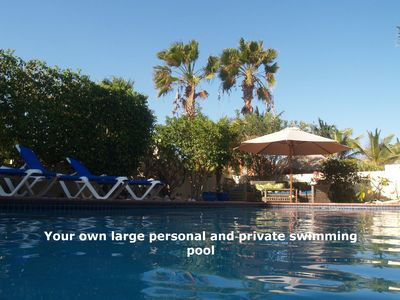 'Your own large and private pool'