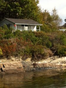Secluded Casco Bay Waterfront Cabin