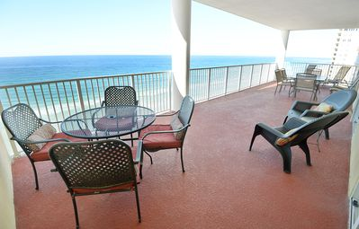 Photo for Beautiful ocean front view 4 bed 4 bath dbl. master on Gulf