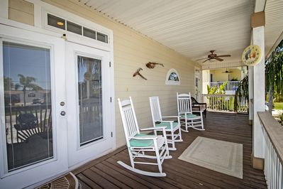 Enjoy the IntracCoastal sunsets from the front porch.