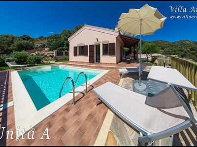 Photo for Villa Ara 2 apartments with 4 beds each one 300m from the sea with private pool