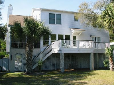 Photo for Private dock on canal, perfect location, 2 golf carts included with all rentals