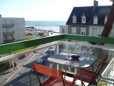 Photo for WIMEREUX -Very nice apartment 50 meters from the beach, Plein Sud, beautiful balcony Sea View