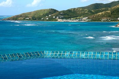 View from the pool while you are are in it ,  Fabulous colors!