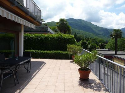 Photo for Well-kept 3-room terraced apartment with a fantastic view of the lake
