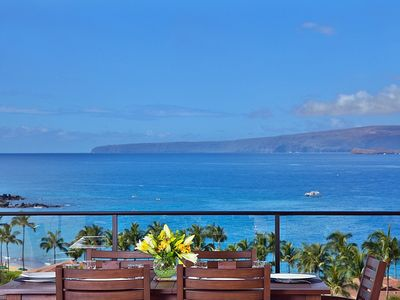 Photo for Sandy Surf K508 with Full Panoramic Ocean, Beach and Haleakala Views