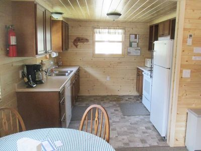 Fully equipped kitchen, stove, refrig, dishwasher, microwave ... it's all there.